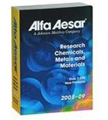 阿法埃莎(Alfa Aesar) 研究化学品、金属与材料目录