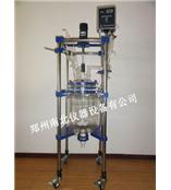 新余 双层玻璃反应釜,玻璃反应器生产厂家