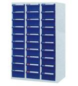 供应零件柜,天钢30抽蓝色防油零件柜