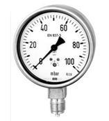 供应HHZK8-YTN100B  不锈钢耐震压力表(轴向带边)